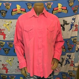Vintage Faded Red Wrangler Western Button Up XL